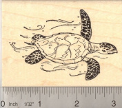 Hawksbill Sea Turtle Rubber Stamp