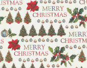 Merry Christmas Rolled Decorative Gift Wrap Paper
