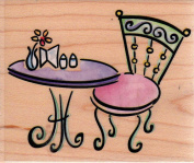 Dream Garden Table Wood Mounted Rubber Stamp