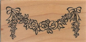 Rose Garland Wood Mounted Rubber Stamp
