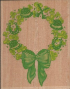 St. Paddy's Wreath Wood Mounted Rubber Stamp