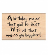 My Sentiments Exactly Wood Mounted Rubber Stamps, Birthday Prayer
