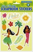 Hawaiian Scrapbook Stickers Island Sun 3D