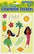 Hawaiian Scrapbook Stickers Island Sun 3D