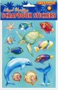 Hawaiian Scrapbook Stickers Marine Life 3D