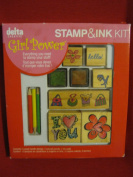 Girl Power Delta Creative Stamp and in Kit; 6 Wood Handle Stamps