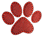 Crystal Heiress Rhinestone Sticker, Paw Print, 10cm by 8.3cm , Red
