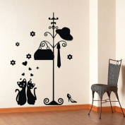 60*45CM Please put the clothes on here Vinyl Art Wall Sticker Room Decals PVC Decor B0322