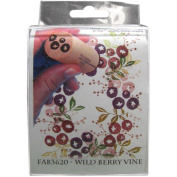 Rubber Stamp Tapestry Mounted Rubber Fabric Stamp Set Wild Berry Vine Set Of Three