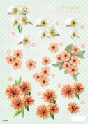 3-D Die-Cut Decoupage Sheet-Polka Dot Flowers