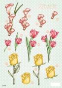 3-D Die-Cut Decoupage Sheet-Polka Dot Flowers