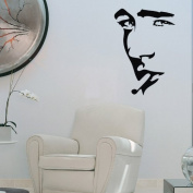 60*45CM Portrait Man Smoking Dark eyes PVC Vinyl Art Wall Sticker Living Room Decorative Decals Home Decor P0215