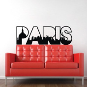 60*45CM PARIS Vinyl Art Mural PVC Decal Sticker Home Decorative Decor EWQ0038