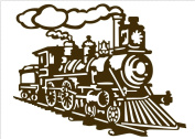 The train coming PVC Vinyl Art Wall Stickers Decals Living Room Decor Mural S0115 Coffee