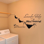 """Drop your drawers here"" Vinyl Art Wall Sticker Room Decorative Decor Decal EWQ0253"