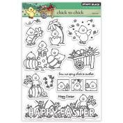 Penny Black Decorative Rubber Stamps, Chick To Chick