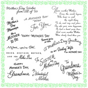 Mother Day Greetings 2 // Clear stamps pack (18cm x 18cm ) FLONZ