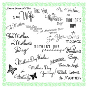 Mother Day Greetings 1 // Clear stamps pack (18cm x 18cm ) FLONZ