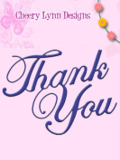 Cheery Lynn Designs B213 Thank You Cutting Dies