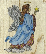 Celestial Angel Wood Mounted Rubber Stamp