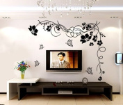 60cm X 60cm Small Flower Butterfly Wall Decals Tv Background Wall Art Decal Sticker