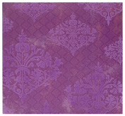 MBI by MCS Top Load Flocked Scrapbook, 34cm by 32cm , Purple Brocade