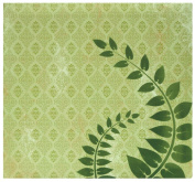 MBI by MCS Top Load Flocked Scrapbook, 34cm by 32cm , Green Fern