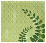 MBI by MCS Top Load Flocked Scrapbook, 34cm by 32cm , Green Fern
