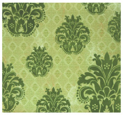 MBI by MCS Top Load Flocked Scrapbook, 34cm by 32cm , Green Brocade