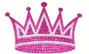 Crystal Heiress Rhinestone Sticker, Crown, 17cm by 12cm , Pink/Silver