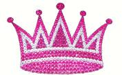 Crystal Heiress Rhinestone Sticker, Crown, 17cm by 12cm , Pink/Silver