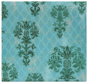 MBI by MCS Top Load Flocked Scrapbook, 34cm by 32cm , Turquoise Brocade