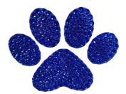 Crystal Heiress Rhinestone Sticker, Paw Print, 10cm by 8.3cm , Blue