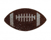 Crystal Heiress Rhinestone Sticker, Foot Ball, 13cm by 7.9cm , Brown/Silver