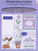 All Night Media Scrapbooking Clear Stamps 91421 Garden Delights