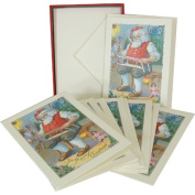 Cavallini Vintage Santa Greeting Cards with Envelopes