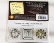 Changeables Monogram Stamp Designs Set of 3 - Letter T