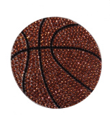 Crystal Heiress Rhinestone Sticker, Basketball, 8.9cm , Brown/Silver