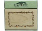Image Tree Rubber Stamp - Vine Frame