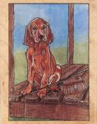 Irish Setter Pup Dog Rubber Stamp