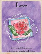 Love Wood Mounted Rubber Stamp