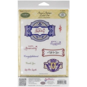 JustRite Stampers Cling Stamps - Royal Antique Labels One