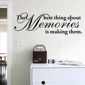 "60*45CM ""The best thing about Memories is making them"" Vinyl Art Wall Stickers Home Decorative Decals Living Room Decor Mural EWQ0170"