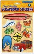 Hawaiian Scrapbook Stickers Surfer World 3D