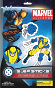 Marvel Slap Sticks Wolverine Reusbale Gel Stickers, 13cm Character and 3 6.4cm Icons