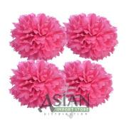 41cm Tissue Paper Pom Poms - Fuchsia