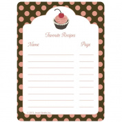 C.R. Gibson Jessie Steele Cookbook Stickers, Cherry Cupcake