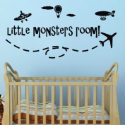 "60*45CM ""Little Monsters Room"" Cute Lovely PVC Vinyl Art Kids Room Wall Stickers Decals Living Room Decor Child Paster Mural EWQ0018"