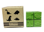 Dinosaurs Decorative Scrapbook Rubber Stamp Creation 4 Styles Set