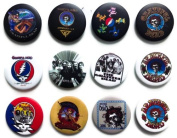 GRATEFUL DEAD Awesome Quality Lot 12 New Pins Pinbacks Buttons Badge 3.2cm
